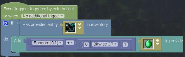 Using random for block break/drops